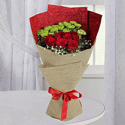 Love Red Roses Bunch