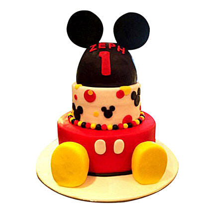 Lovely Mickey Cake:Mickey Mouse Cake Delivery in UAE