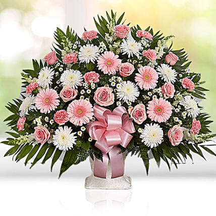 Luxurious Pink N White Flower Arrangement