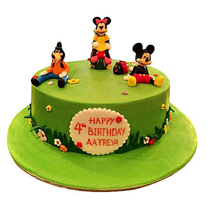 Mickey and Family Cake:Mickey Mouse Cake Delivery in UAE
