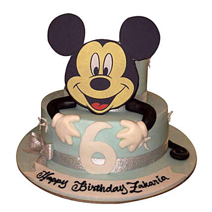 Mickey the Cartoon Cake:Mickey Mouse Cake Delivery in UAE