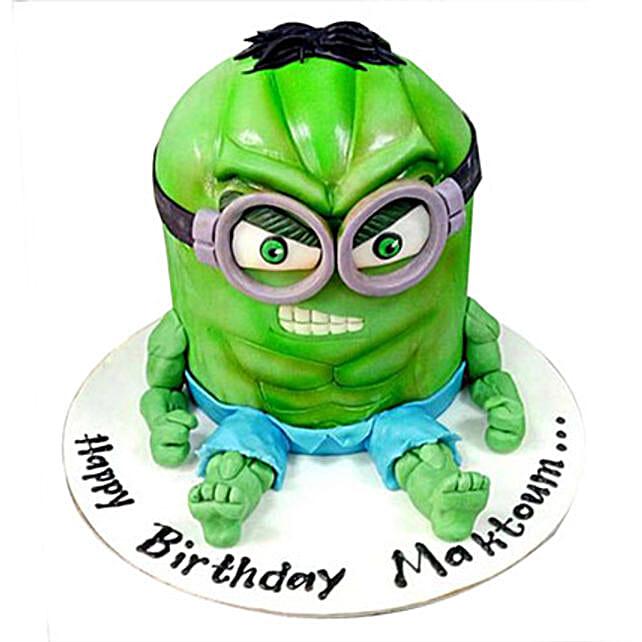 Minion Green Cake:Designer Cake Delivery in UAE