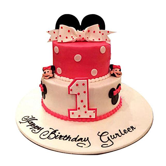 Minnie the cutie Cake:Minnie Mouse Cake to UAE