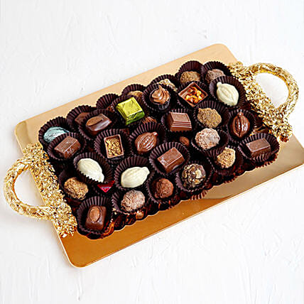 Mixed Belgium Chocolate 1KG in Tray