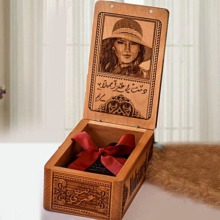 Natural Wood Personalised Engraved Box