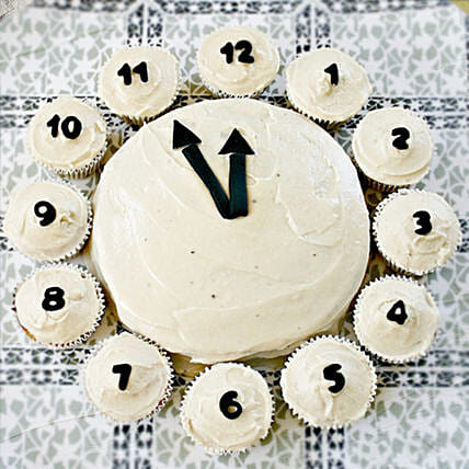 New Year Countdown Cupcakes and Cake