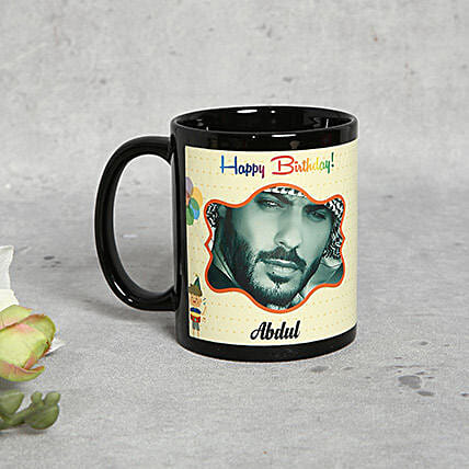Personalised Black Birthday Mug