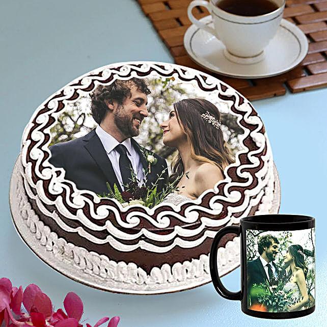 Chocolate Cake with Customised Coffee Mug