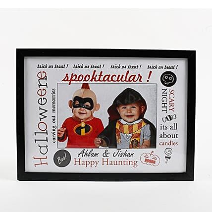 Personalised Halloween Themed Photo Frame