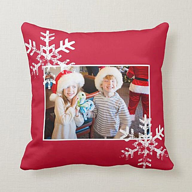 Personalised Snowflake Cushion:Personalised Cushions to UAE