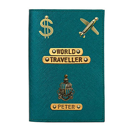 Personalised World Traveller Passport Cover