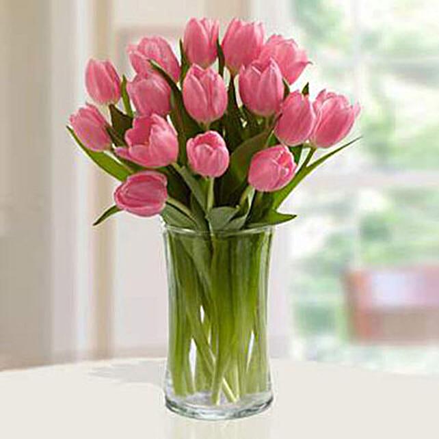 Pink Tulips Arrangement Standard