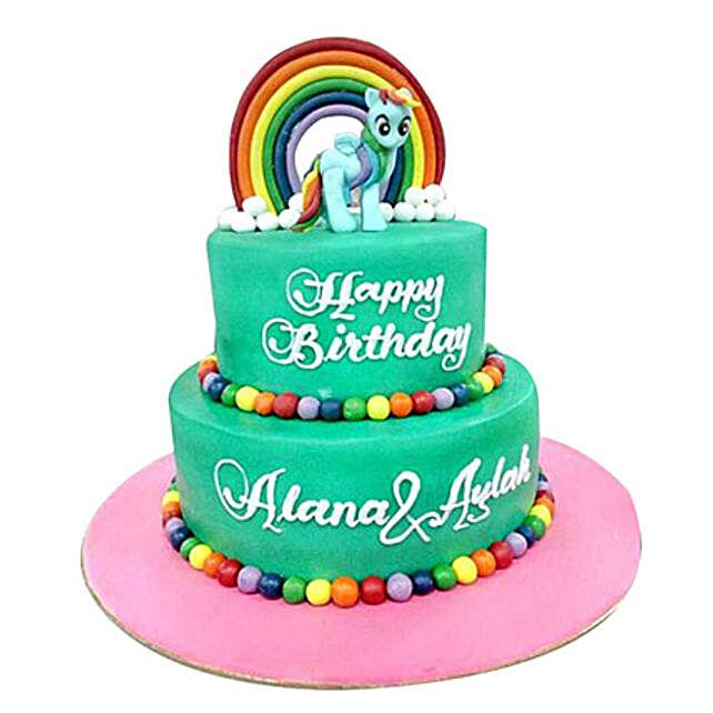 Pony N Rainbow Cake