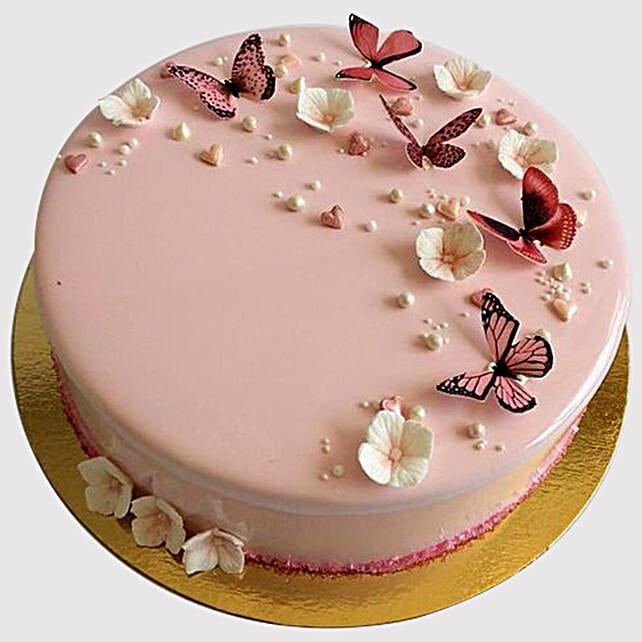 Pretty Butterfly Design Cake
