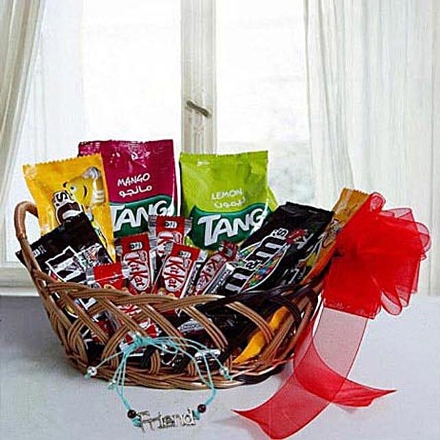 Rakhi with Gift Basket 1