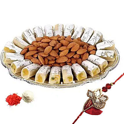 Rakhi with Kaju Roll n Almonds