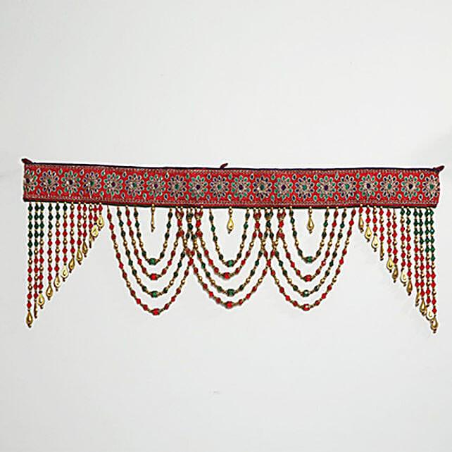 Red and Green Beads Bandhanwar