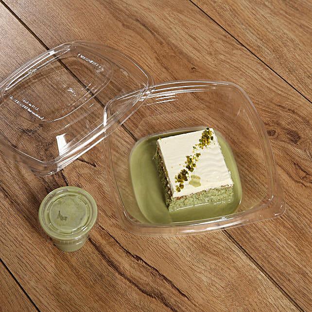 Scrumptious Pistachio Flavor Milk Cake