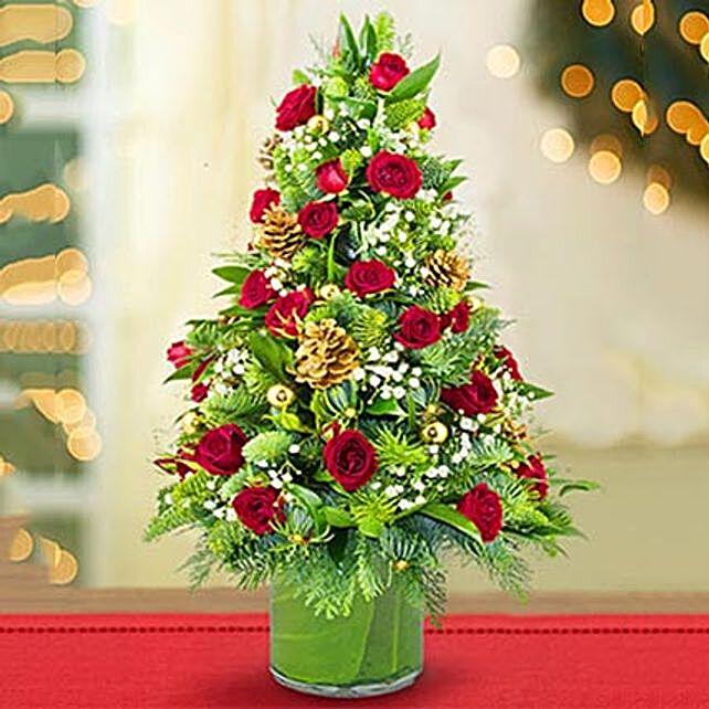 Shimmering Christmas Flower Tree