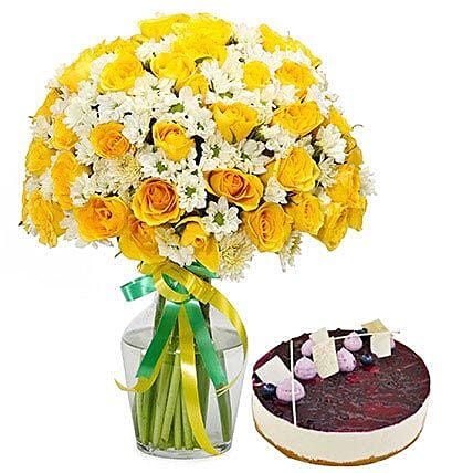 Sunshine Bouquet n Cake