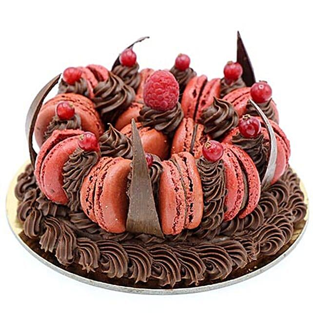 Tempting Choco Macronade Cake