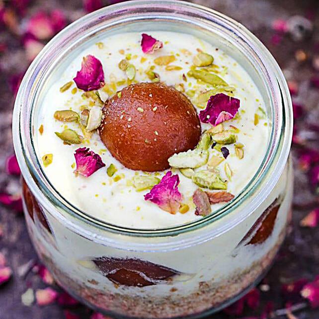 Thandai Mousse with Gulabjamun:Send Diwali Cakes to UAE