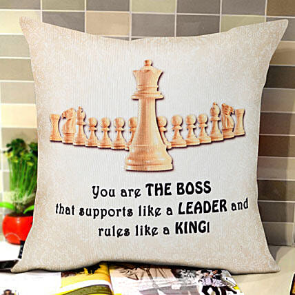 The Best Boss Printed Cushion