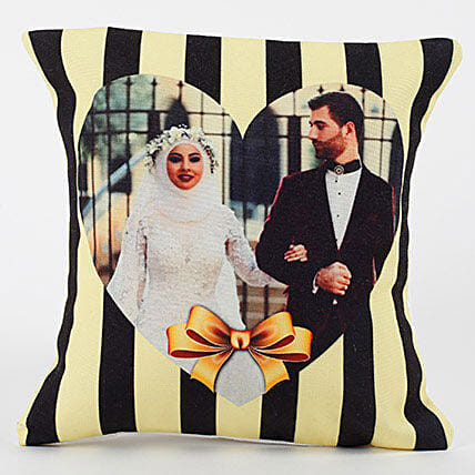 Tied With Love Personalized Cushion