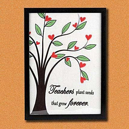 Tree Of Knowledge Photo Frame For Teacher
