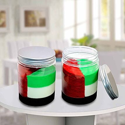 UAE Flag Jar Cake Set of 2
