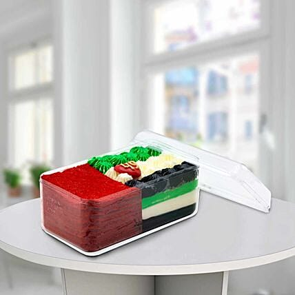 UAE Flag Jar Cake