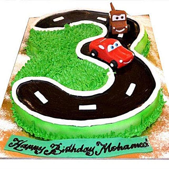 McQueen Number Cake