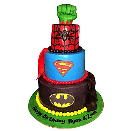 Superheroes Revisited Cake