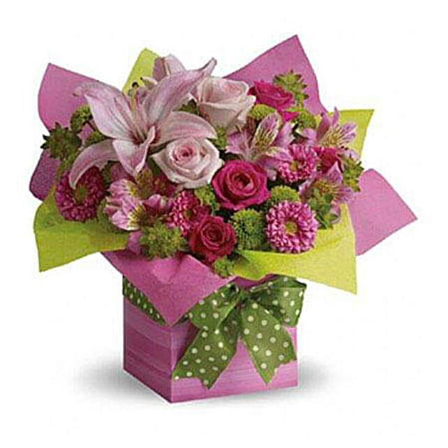 Pretty Pink Present:Order Lilies in UAE