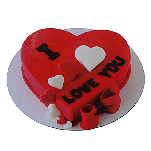 Valentine Heart Cake:Heart Shaped Cake to UAE
