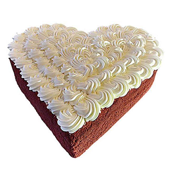 Eternal Sweetness Cake:Heart Shaped Cake to UAE