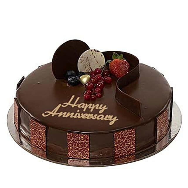 Chocolate Truffle Anniversary Cake:Send Corporate Gifts to UAE
