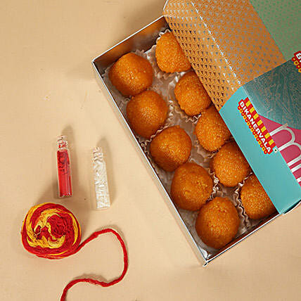 Motichoor Laddoo With Roli and Chawal:Send Sweets to UAE