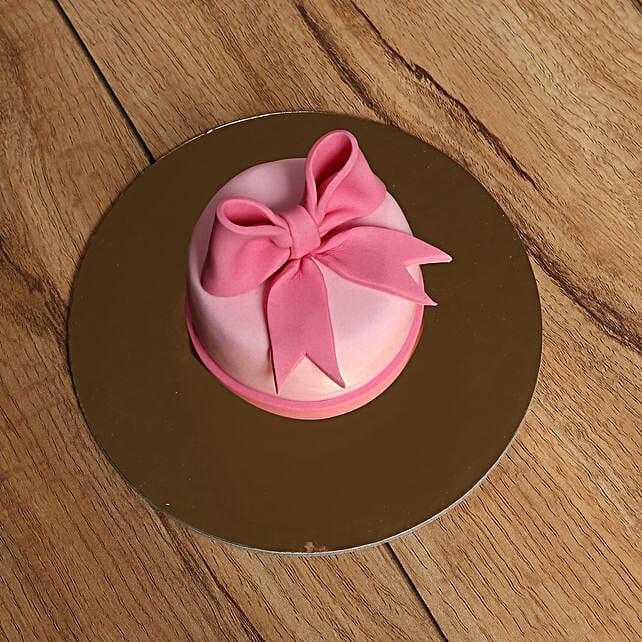 Bow Mono Cake