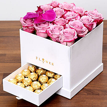 Hues Of Purple and Chocolates:Premium Gifts Delivery in UAE