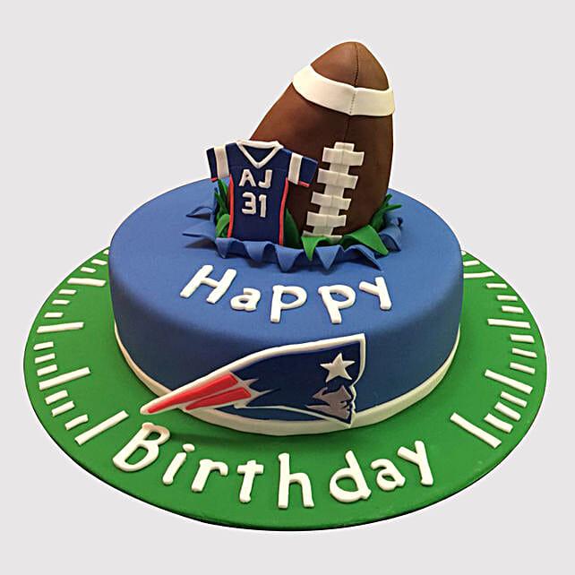 Astounding Rugby Ball Themed Chocolate Cake Funny Birthday Cards Online Inifodamsfinfo
