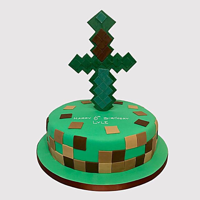 Minecraft Tree House Chocolate Cake Uae Gift Minecraft Tree House Chocolate Cake Ferns N Petals