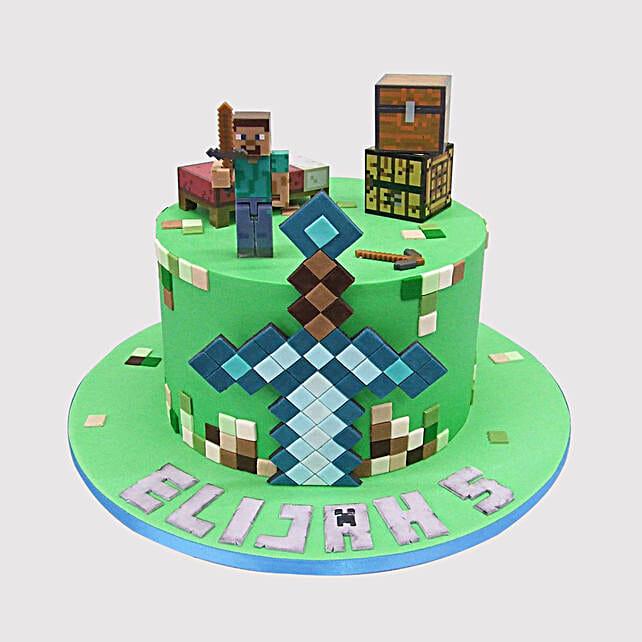 Minecraft Herobrine Chocolate Cake Uae Gift Minecraft Herobrine Chocolate Cake Ferns N Petals