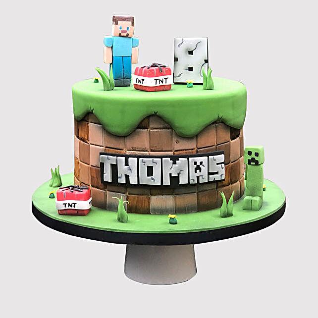 Minecraft Fondant Chocolate Cake Uae Gift Minecraft Fondant Chocolate Cake Ferns N Petals