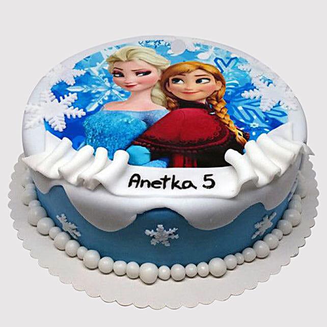 Frozen Elsa and Anna Cake