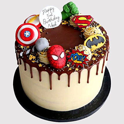 Surprising Avengers Birthday Chocolate Cake In Uae Gift Avengers Birthday Birthday Cards Printable Trancafe Filternl