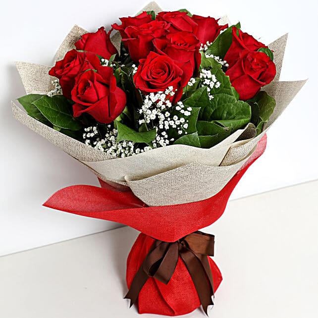Bunch Of Ravishing Red Roses:Send Flowers to UAE