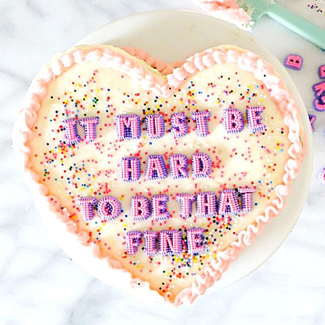Ravishing Heart Shape Cake Gluten Free