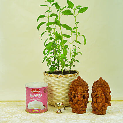 Divine Items With Tulsi Plant
