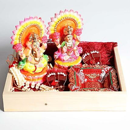 Laxmi and Ganesha Divine Box Hamper